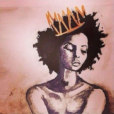 Black Queen with Crown