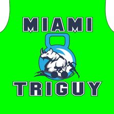 Custom logo and shirt work for Miami Tri Guy