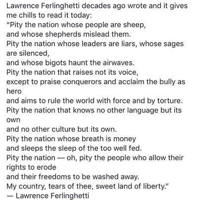 "Lawrence Ferlinghetti poem ""Sheep"""