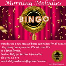 Introducing a new musical bingo game show for all pubs, clubs and venues for the daytime bingo playe
