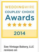 Vintage Bakery 2014 WeddingWire Couples Choice Award