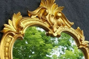 Ornate Gold Italian Carved Wall Mirror