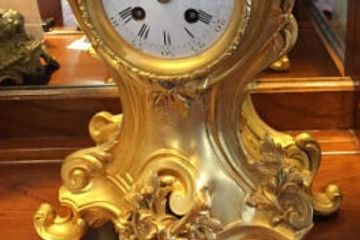 Antique Rococo French Style Clock