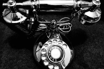 Chrome Plated Victorian Rotary Phone