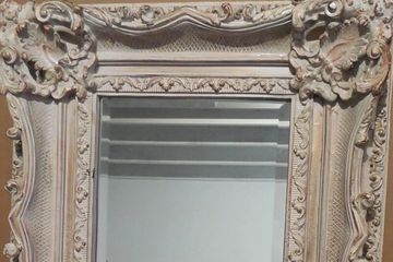 Louis XV Wood Rectangle Framed Wall Mirror
