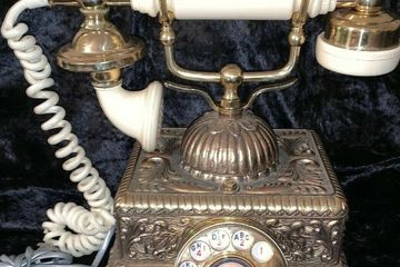 Vintage French Victorian Rotary Phone