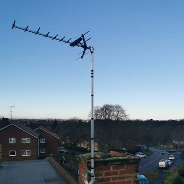 Digital TV Aerial Installation, Chimney mounted