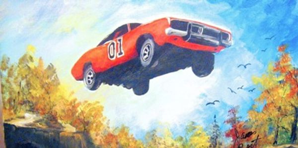 General Lee jumping a creek
