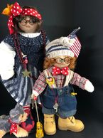 Handmade Patriotic Little Souls dollls