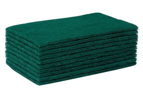 green / blue scouring pads