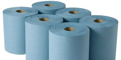 towel roll blue