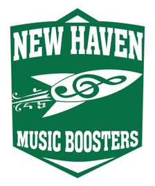 New Haven Music Boosters Green Shield Logo