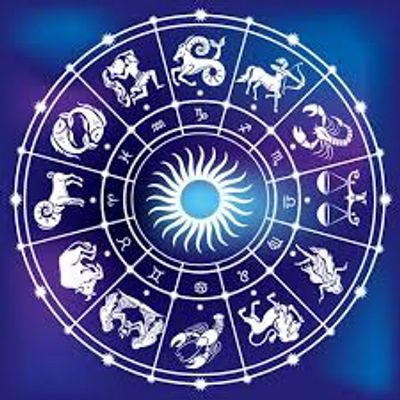 Astrology wheel all twelve signs