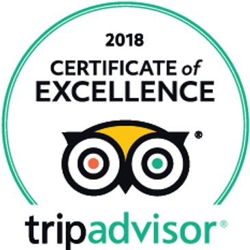 TripAdvisor Certificate of Excellence Winner