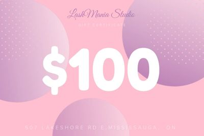 Eyelash extensions gift certificate gift card Lash lift gift certificate gift card