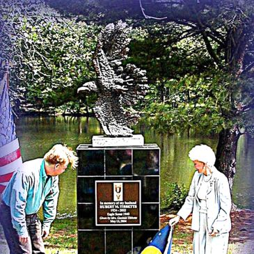 In memory of my husband  HUBERT M. TIBBETTS  1924-2002  Eagle Scout 1940  Given by Mrs. Gunhild Tibb