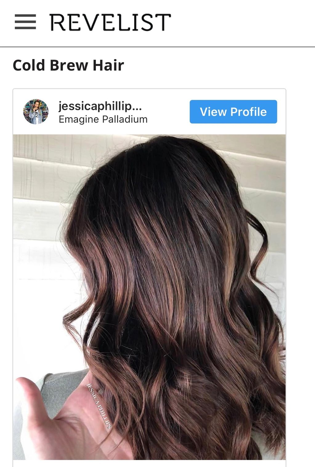 jessica phillips hair cold brew hair color revelist feature