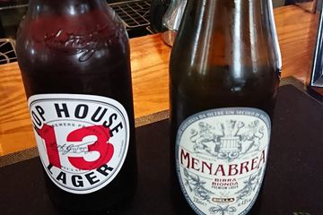 a range of bottled beer, menabrea and hop house 13