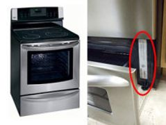 stove, range, stove drawer open