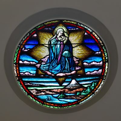 Our Lady of Japan, stained glass window.