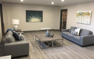 Basement Design, Pot lights, Artwork, Basement Renovations, Basement Contractor Bowmanville,