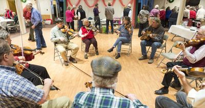 Each fiddle meet begins with a circle jam.
