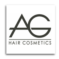 Logo for AG Hair Cosmetics- one of the hair product lines we carry at the salon
