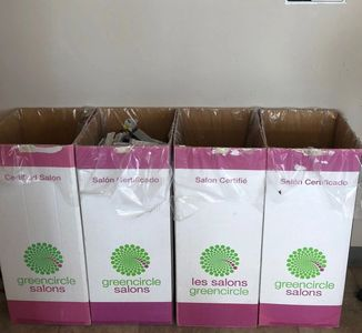 Our Green Circle recycling bins at Ascend Salon in Penticton, BC