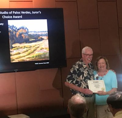 Juror's Choice Award with Karl Dempwolf at Palos Verdes Art Center, July 2018.