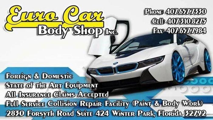 Euro Car Auto Body Shop Auto Body Shop Auto Paint