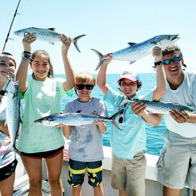 Fishing charters out of Emerald isle offering family friendly charters. Kids welcomed on all fishing