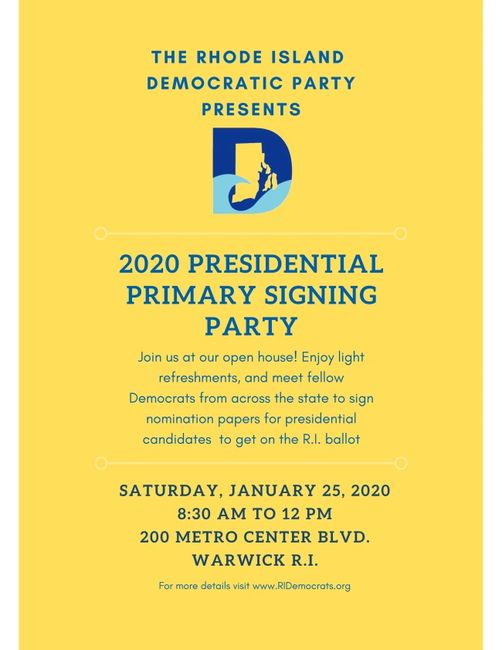 2020 Presidential Primary Signing Party