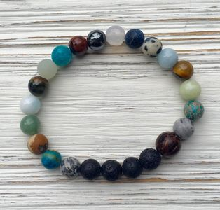 around the world lava stone  aromatherapy   essential oil  bracelet jewels by jules vance