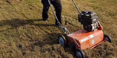 Lawn dethatch, core aeration, rake leaves & much more...