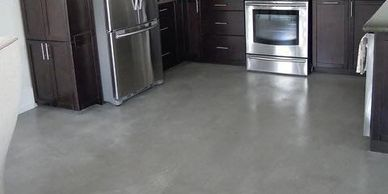 Concrete floor refinishing