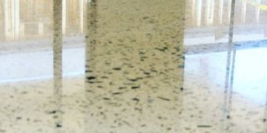 Terrazzo floor refinishing, sealing, polishing and repair.