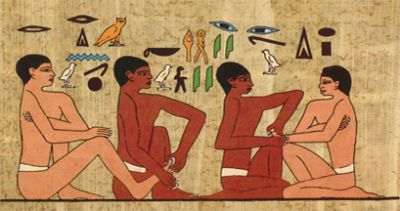 Historic picture of Reflexology being practiced in Ancient Egypt, healing, energy healing, reiki