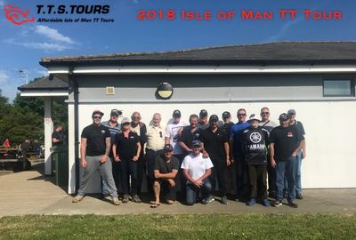 Group Photo from Isle of Man TT Tour 2018
