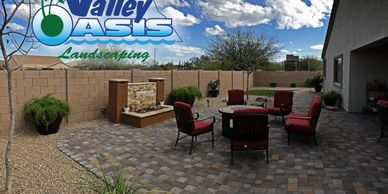 Patio pavers and fire pit