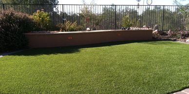 Artificial Grass with paver boarder