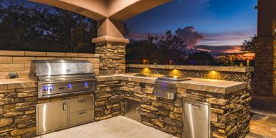 Outdoor kitchen with BBQ