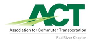 Red River Chapter of the Association for Commuter Transportation