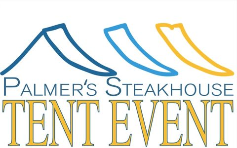 Palmer's Steakhouse Tent Event for Transplant Research Logo