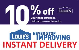 Lowe's 10% Off Coupon with Instant Email Delivery after payment through PayPal
