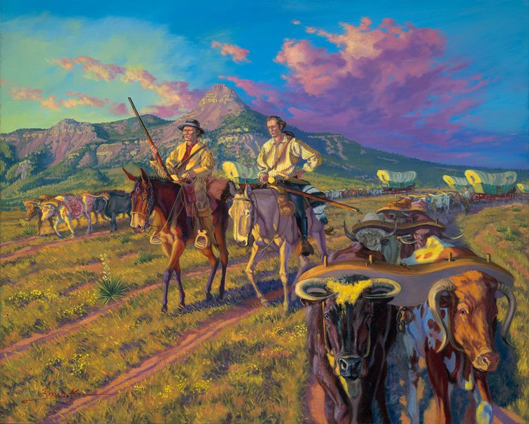 Portrait by Ron Kil painted exclusively for the Santa Fe Trail 200.