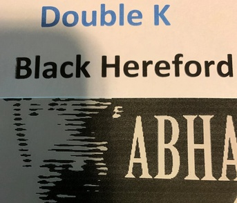 Double K Black Hereford