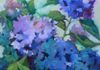 Blue Hydrangea 14x14 oil - Original and prints available for purchase