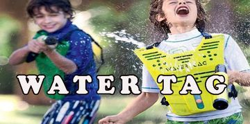 WATER TAG IS A FUN ALTERNATIVE OR COOL ADD-ON TO ANY OF OUR MAIN EVENTS.  THESE VESTS & WATER BLASTE