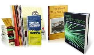 Book printing binding publishing Calgary