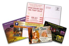 Postcards digital offset printing Calgary